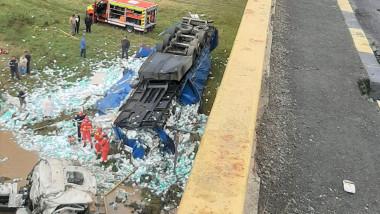 accident camion curierul valcea