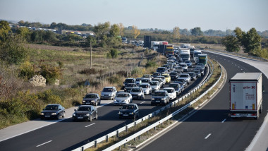 trafic aglomerat la granita cu Bulgaria