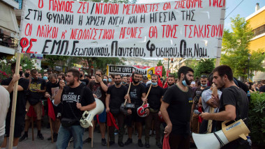 mars de protest anti nazist in grecia