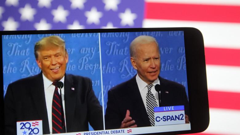 dezbatere prezidentiala SUA trump biden