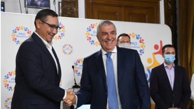 Victor Ponta si Calin Popescu Tariceanu