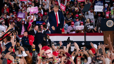 Donald Trump Holds MAGA Campaign Rally In Macon, GA