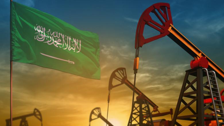 grafica ilustrand industria petroliera a arabiei saudite
