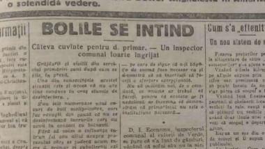 știre despre gripa spaniolă în ziarul Universul, septembrie 1919