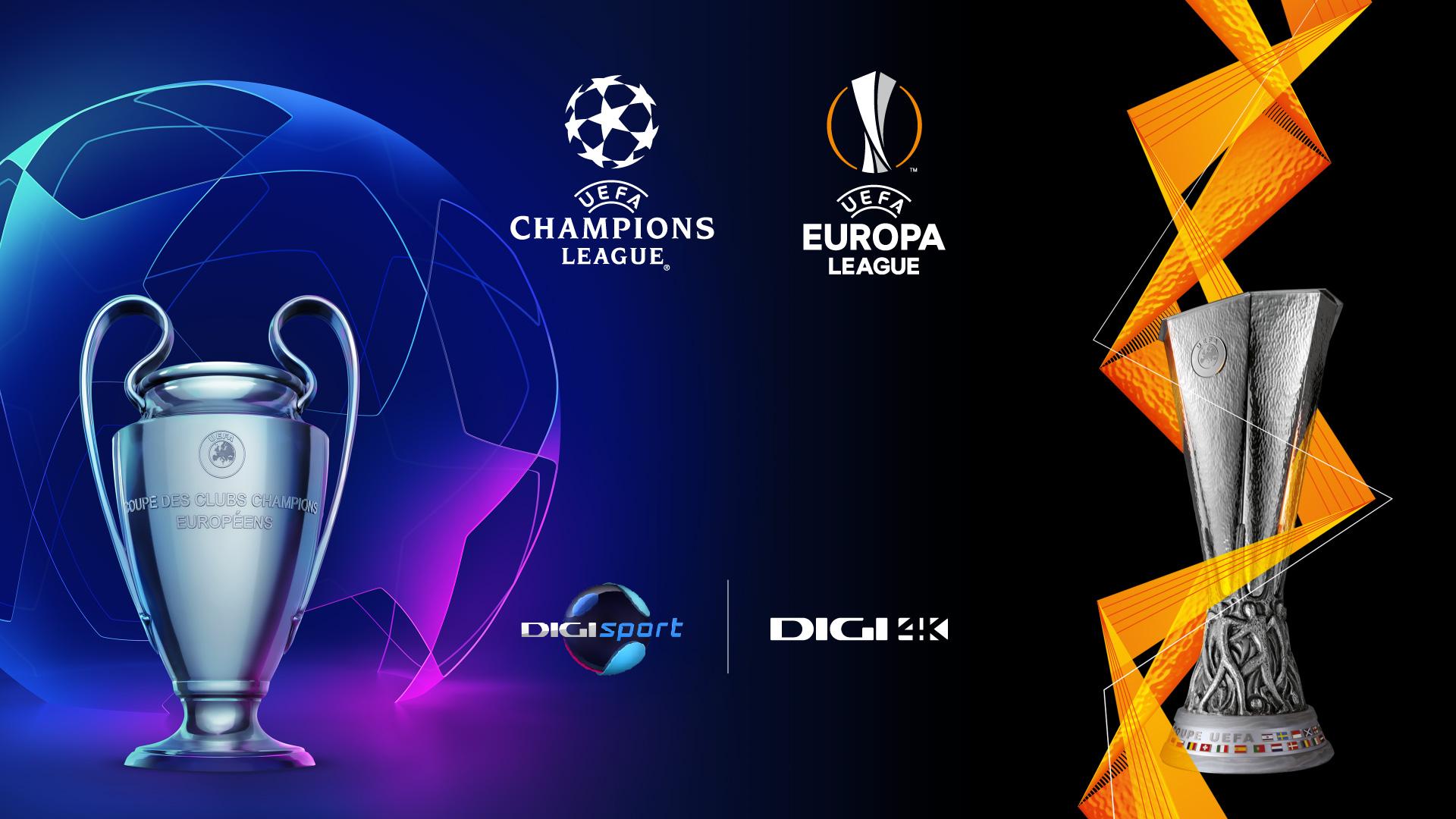Spectacolul UEFA Champions League si UEFA Europa League revine cu un nou sezon, la Digi Sport si Digi 4K