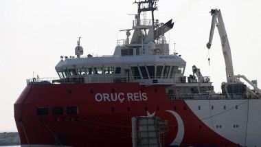 Marina turcă a informat că nava de explorare Oruc Reis va fi în Mediterana de Est