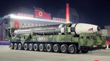 noua rachetă nucleară prezentată la ultima paradă militară din Coreea de Nord