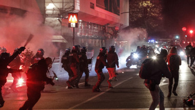 Proteste violente la Roma