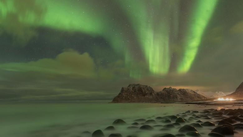 cer verde aurora boreala
