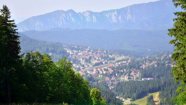 Landscape view Predeal town- Romania