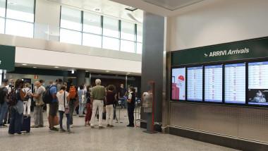 oameni pe aeroportul malpensa italia