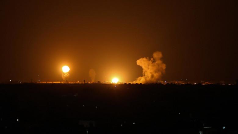 Israelul lovit de două rachete trase din Fâşia Gaza