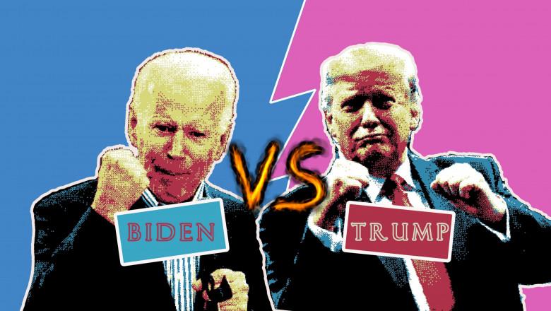 ilustratie biden vs trump