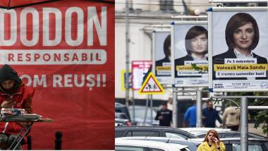 colaj foto afişe publicitare alegeri prezidenţiale Moldova 2020