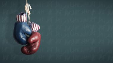 Ilustrație mânuși de box alegeri prezidențiale SUA 2020