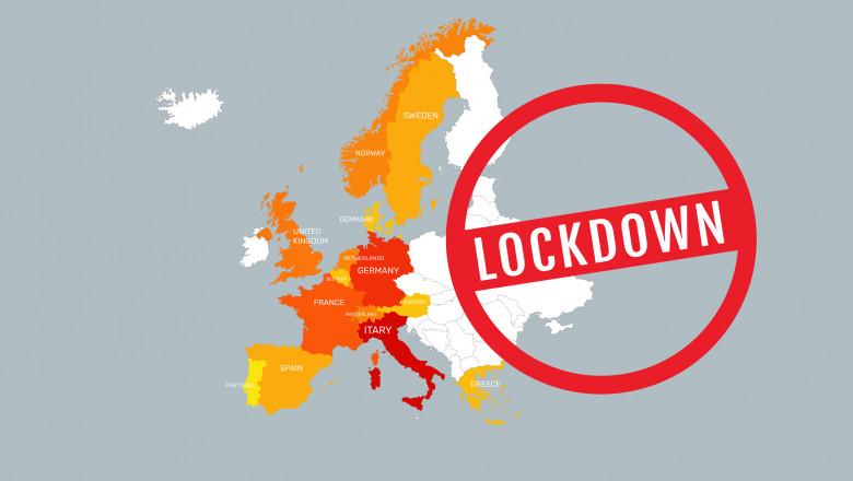 Lockdown, cel mai folosit și de temut cuvânt în Europa