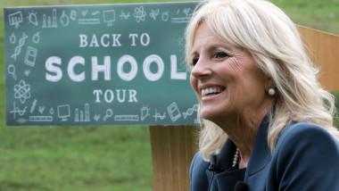 Jill Biden la scoala