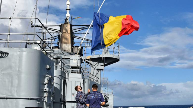 """Fregata """"Regina Maria"""" a revenit mai repede din misiunea NATO, având la bord 110 marinari infectaţi cu coronavirus"""