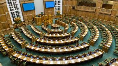 Sala de plen a parlamentului de la Copenhaga