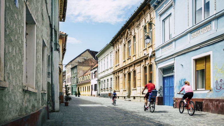 stradă în centrul oraşului Braşov