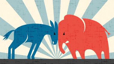 De ce democrații sunt reprezentați de un măgar și republicanii de un elefant. Povestea celor mai cunoscute simboluri electorale din SUA