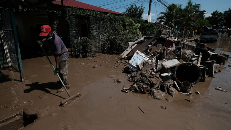 Aftermath Of Tropical Storm Eta In Honduras