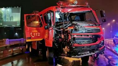 masina de pompieri accident