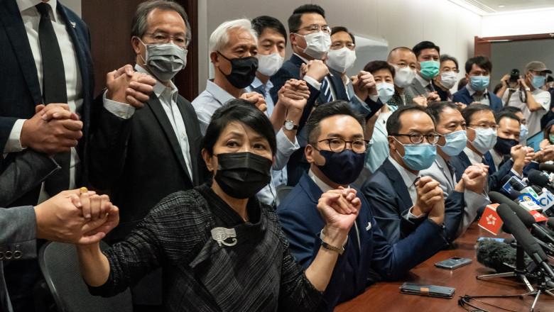 membri opozitiei din hong kong