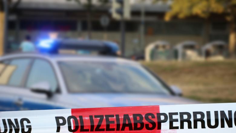 masina politie banda la locul crimei in germana