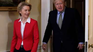 Ursula von der Leyen și Boris Johnson.