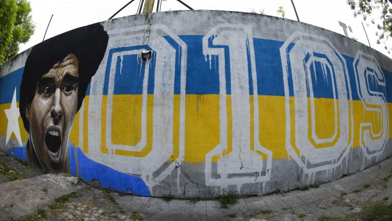 Zid pictură Maradona