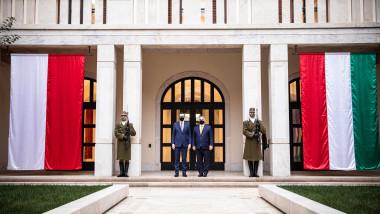 Întâlnire la Budapesta dintre premierul Ungariei, Viktor Orban, şi premierul Poloniei, Mateusz Morawiecki, pe tema bugetului UE