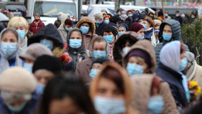 pelerinaj organizat în condiţii de pandemie în Bucureşti, noiembrie 2020