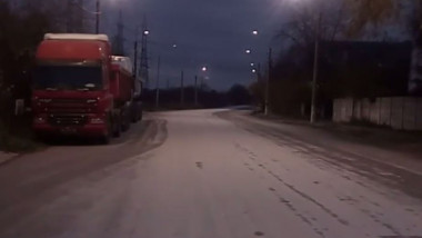 Strat de sare pe bulevardul Timișoara
