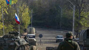 Punct de verificare rusesc în Nagorno Karabah