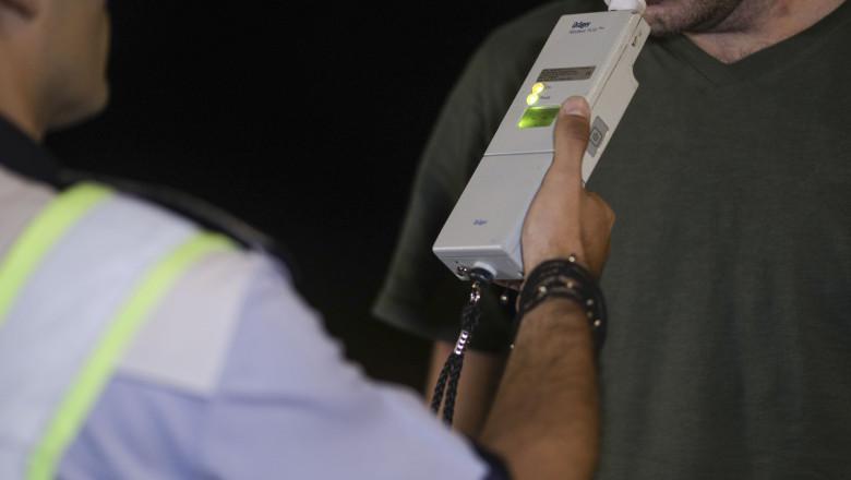 control politie aparat etilotest sofer