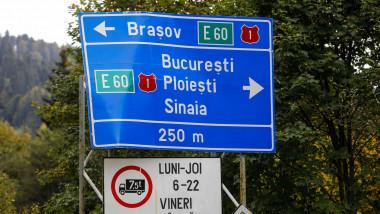 indicator rutier spre localitati din brasov