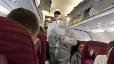 teste covid in avion