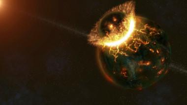 pamant impact cu planeta theia luna
