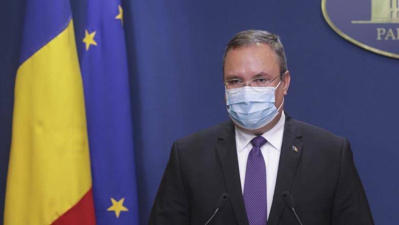 Premierul interimar Nicolae Ciuca.