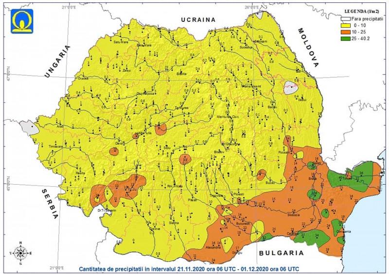 harta anm precipitatii noiembrie4