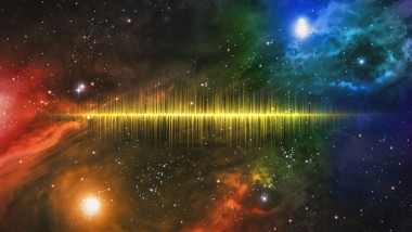 Universe Starscape Sound Wave
