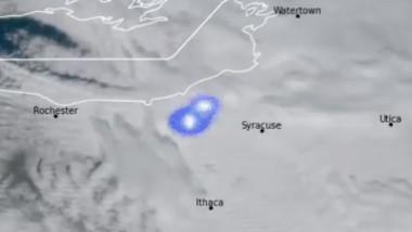 Un meteorit a căzut în statul New York cu un boom sonic puternic și un fulger spectaculos