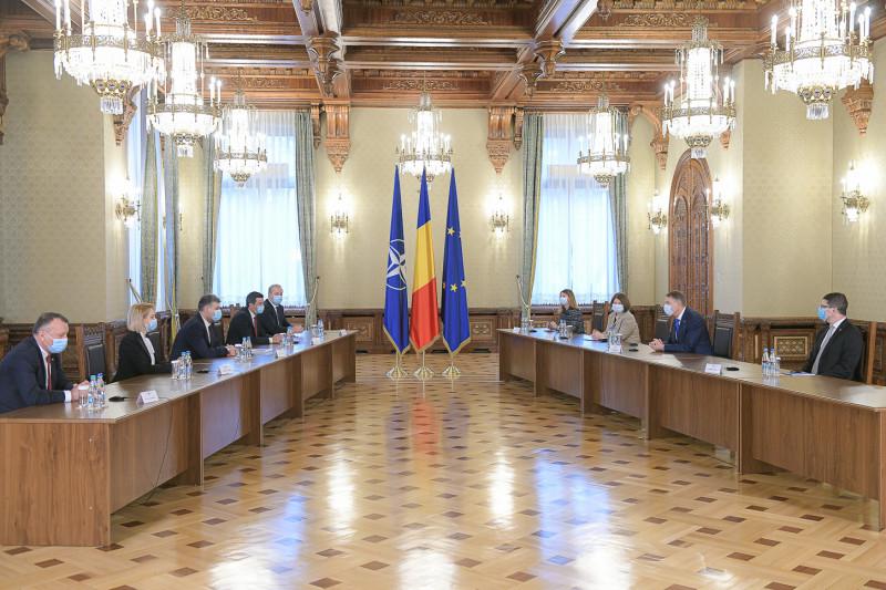 consultari cotroceni iohannis delegatia PSD presidency