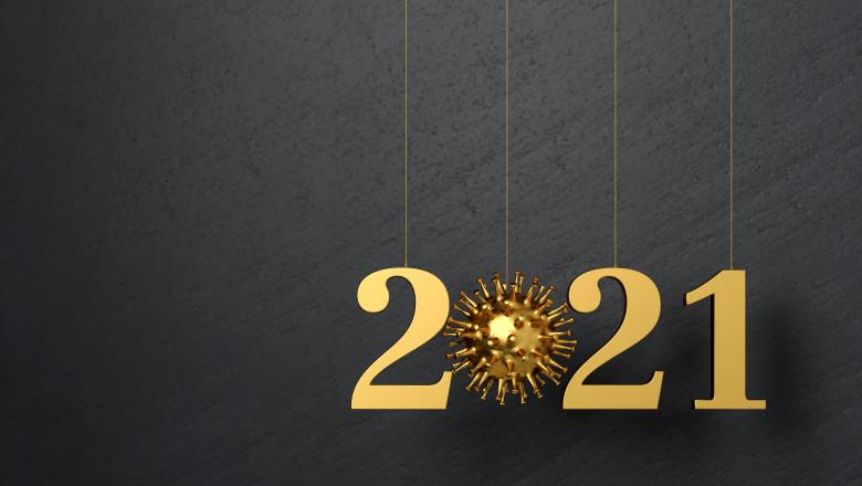Happy New Year 2021 with Corona concept - what will the new year bring regarding Corona virus