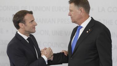 Președintele României, Klaus Iohannis și președintele Franței, Emmanuel Macron