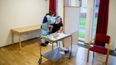 Covid-19 quick test in Lerum, Sweden