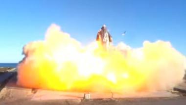 starship explozie