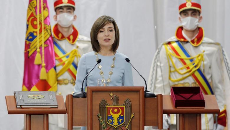 Maia Sandu, învestită în funcția de președintă a Republicii Moldova