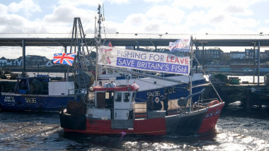 Pro-Brexit Group Fishing For Leave Stage Flotilla And Parade